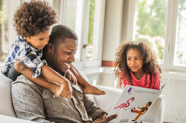 african american family reading