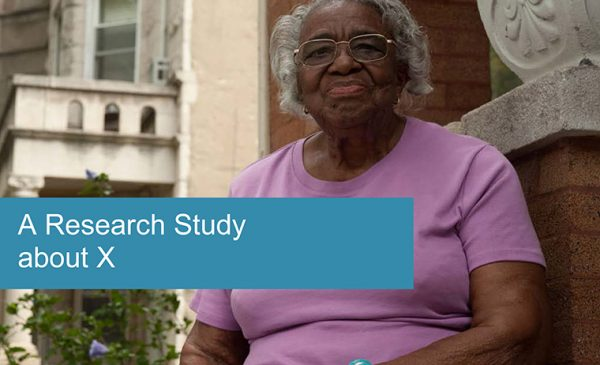 thumbnail for recruitment flyer featuring an older african american woman