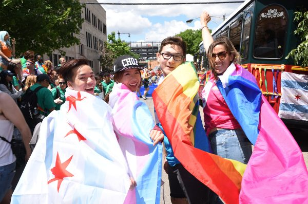 young adults t gay pride parade