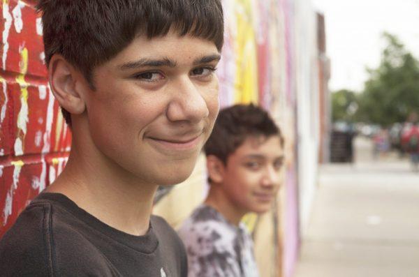 hispanic boys in Pilsen neighborhood