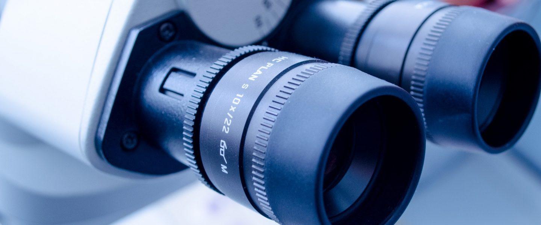 closeup shot of a microscope