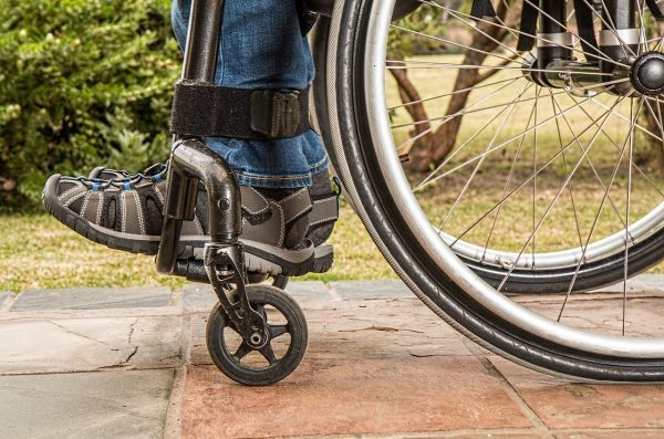 wheelchair wheels and feet