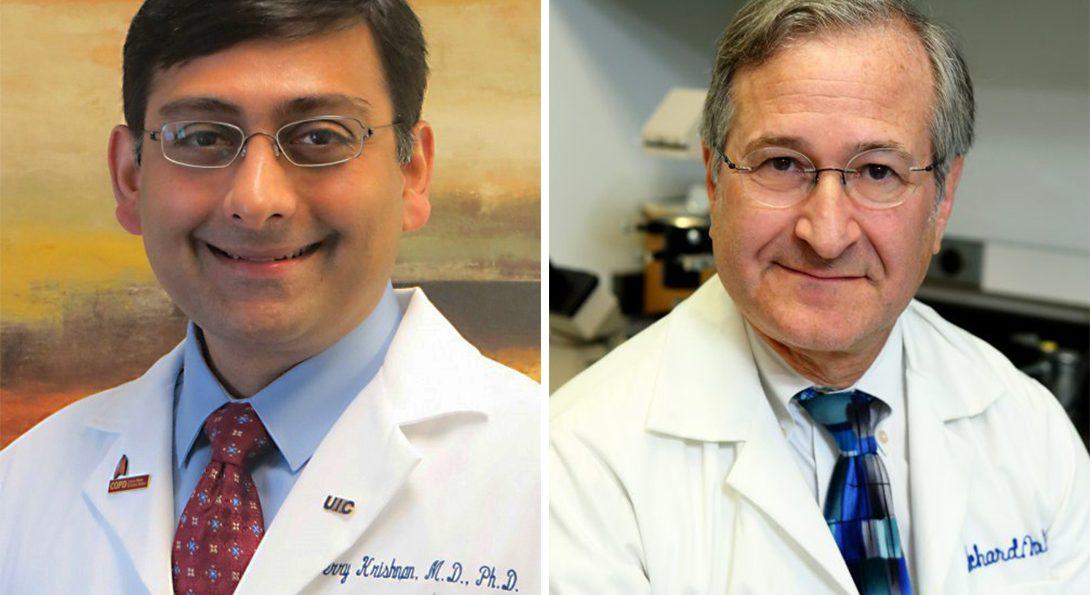 Portraits of doctor Jerry Krishnan and doctor richard novak