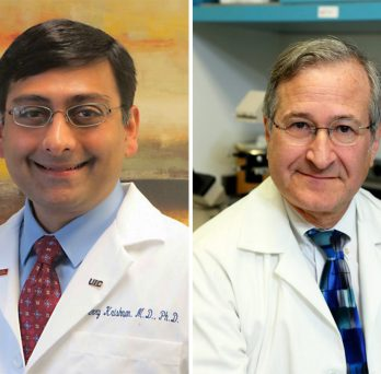 Portraits of doctor Jerry Krishnan and doctor richard novak