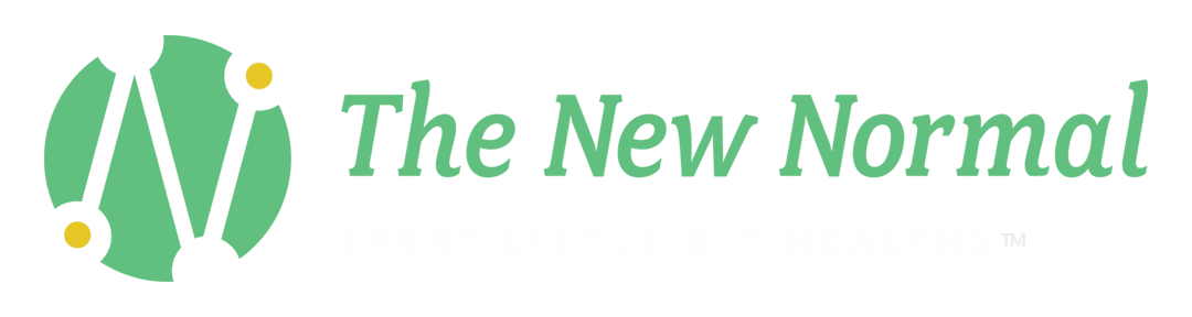 the new normal logo with the tagline every little bit healths