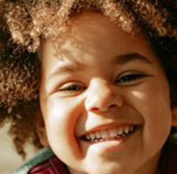 close up of a smiling child