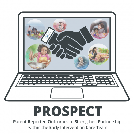 PROSPECT logo: Parent reported outcomes to strengthen partnership within the early intervention care team