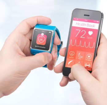 Wearable devices in healthcare, Stock Image